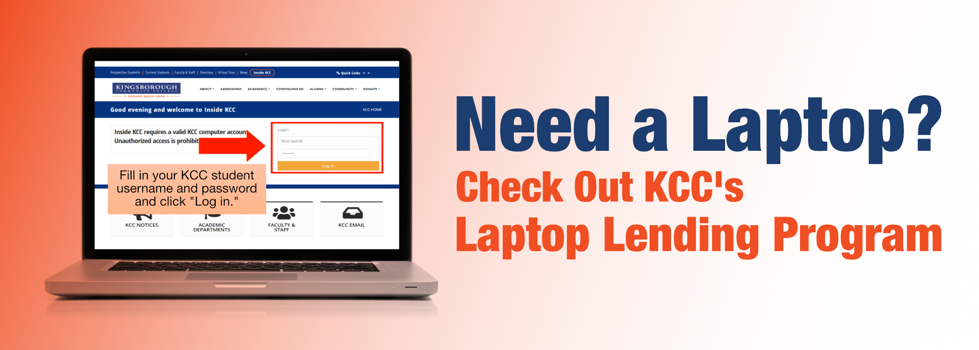 Need a Laptop? Check Out KCC's Laptop Lending Program
