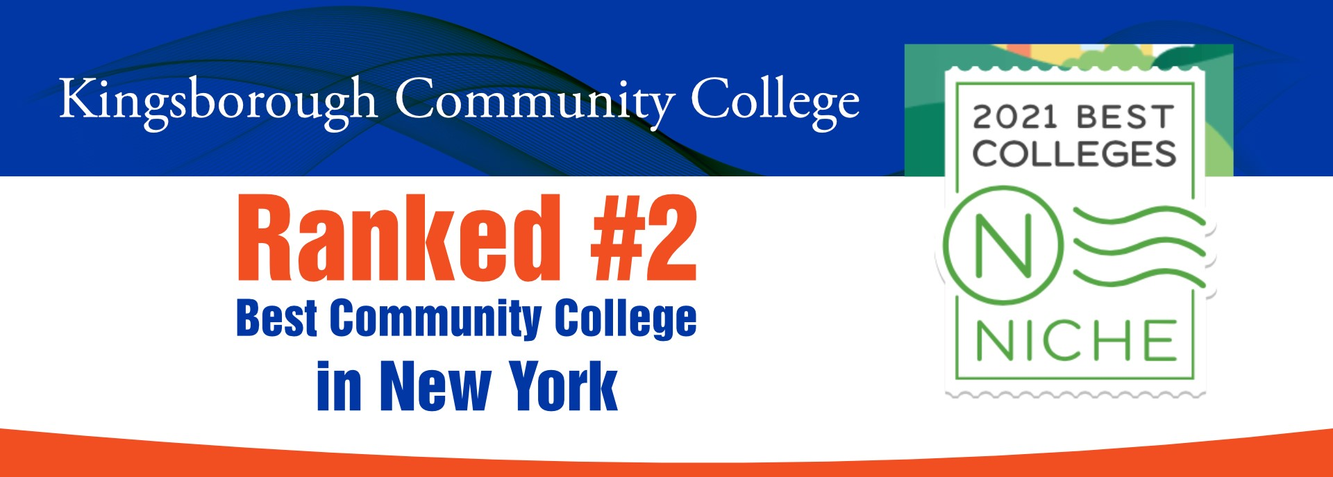 KCC Ranked #2 Best Community College in NYC